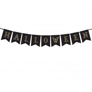 Banner Halloween - Black - Partydeco