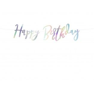 Guirlande iridescente - Happy Birthday - PartyDeco