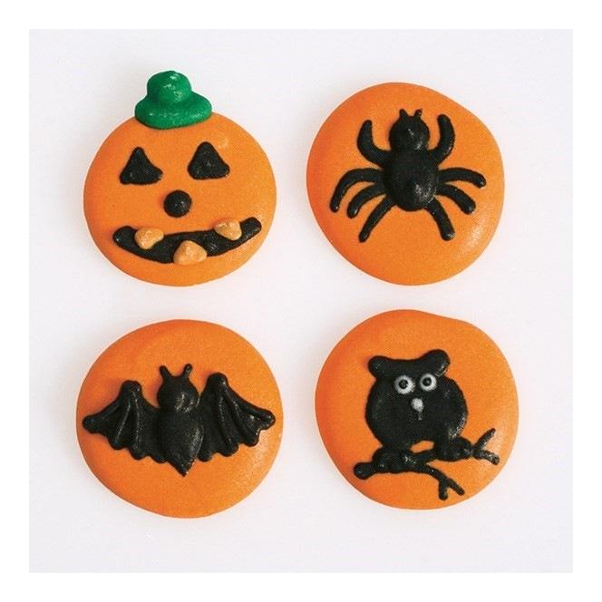 Halloween 4 designs Sugar Decorations - 12pc- Culpitt