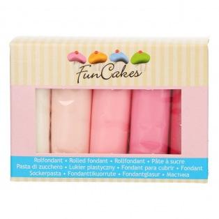 Fondant Multipack - Pink Colour Palette - Funcakes