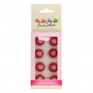 Boules en chocolat x8 - Rose fonce - Funcakes