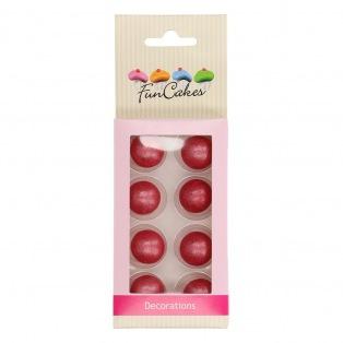 Pearl Choco Balls x8 - Donker Rose - Funcakes