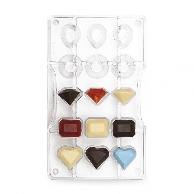 Chocolate mold - Gem / 15pcs - Decora