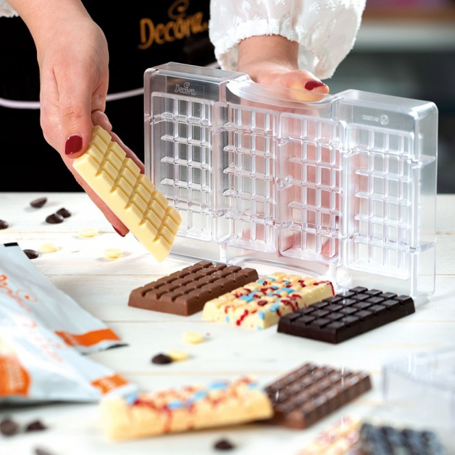 Chocolate mold - The Classic Bar / 3pcs - Decora