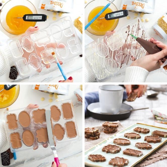 Chocolate mold - Plaques / 10pcs - Decora