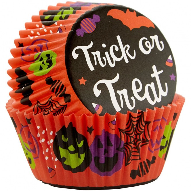 """75 Baking Cups """"Trick or Treat"""" - Wilton"""