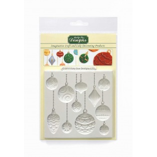 Silicone Mould - Christmas Baubles - Katy Sue