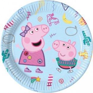 8 Paper Plates - Peppa Pig - Procos
