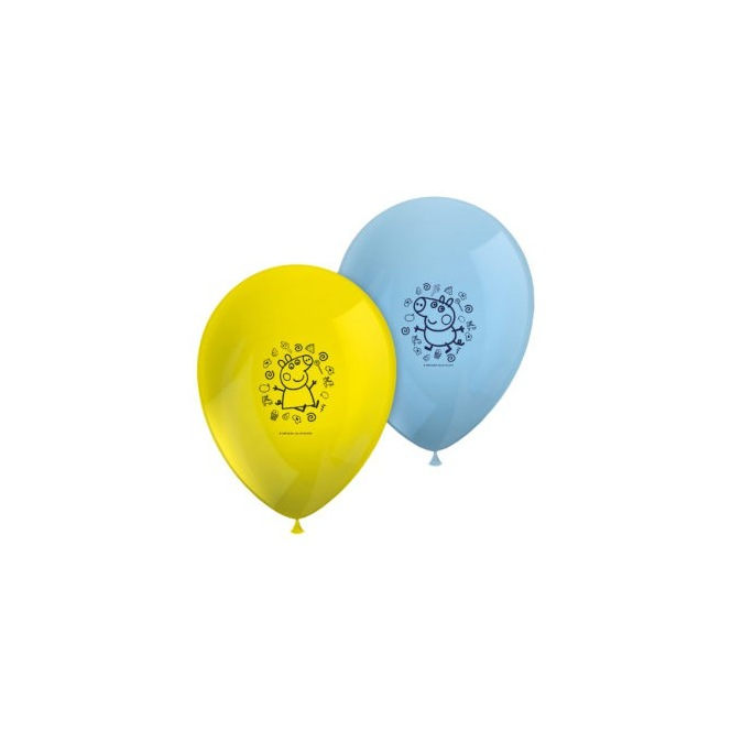 8 Balloons - Peppa Pig - Procos