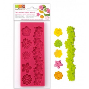 Silicone Mould - Flowers - Scrapcooking