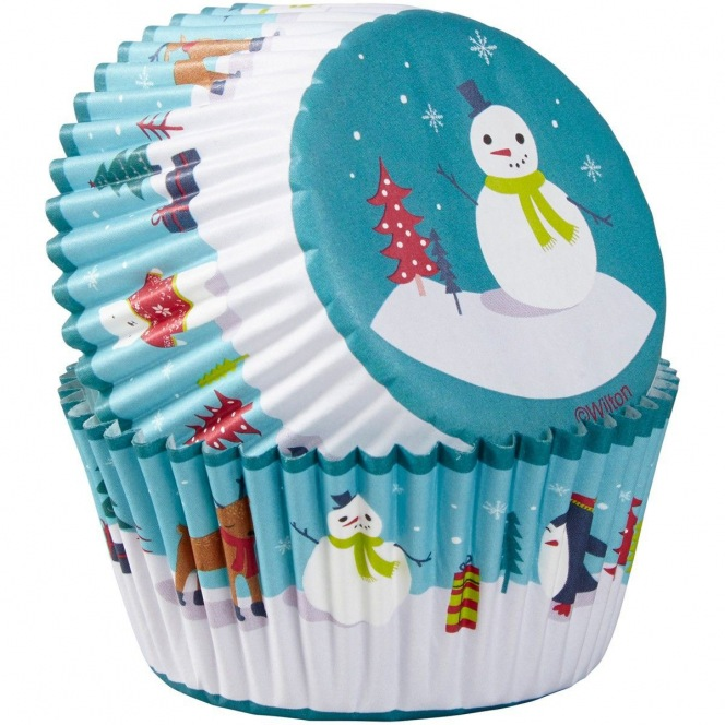Baking Cups /75pcs - Snowman - Wilton