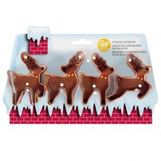 Cookie Cutter set - Reindeer/4pcs - Wilton