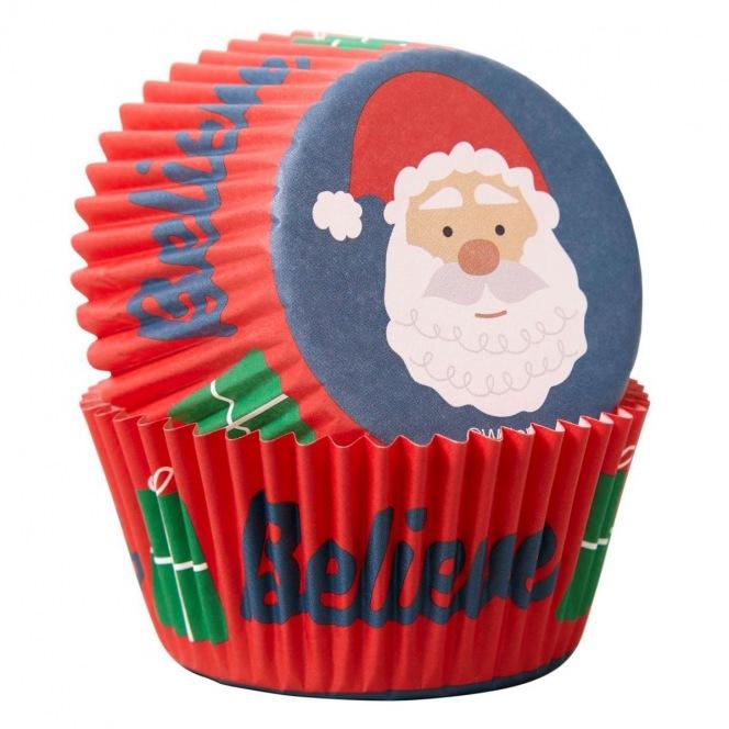 Baking Cups /75pcs - Santa Claus - Wilton
