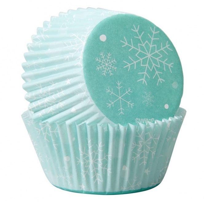 Baking Cups /75st- Sneeuwvlok - Wilton