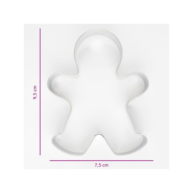 Cookie Cutter - Gingerbread man - 9,5cm - Patisse