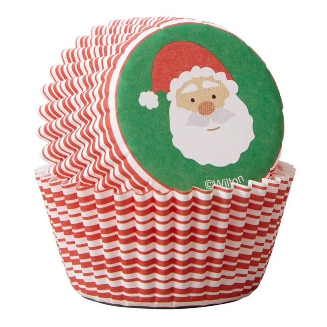 Mini Baking Cups - Santa/100pcs - Wilton