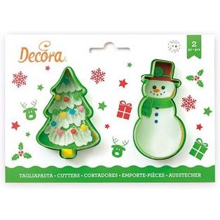Emporte-pièces - Sapin & bonhomme de neige - Decora