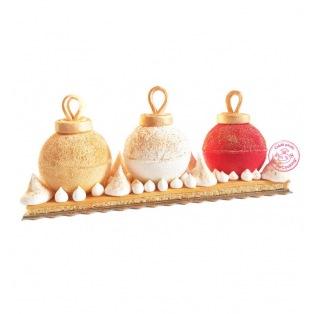 Yule Log : Christmas Baubles - ScrapCooking
