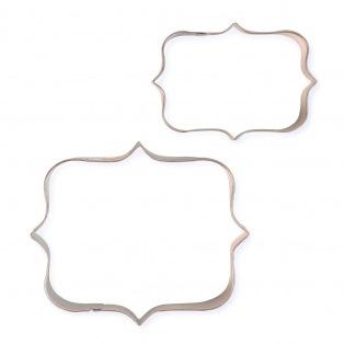 Cookie Cutters - Plaques Style 4 /2pcs - PME