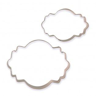 Cookie Cutters - Plaques Style 1 /2pcs - PME
