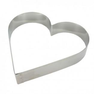 Coeur sans fond en inox 14cm x 4.5cm
