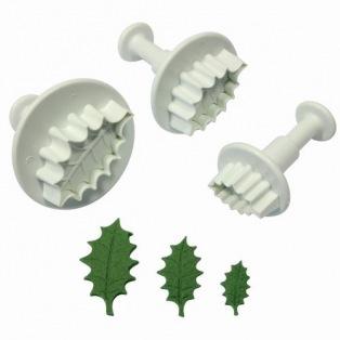 Holly leaf plunger cutter set of 3 - PME