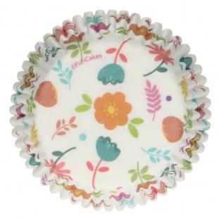 Baking Cups - Floral - 48pcs - Funcakes