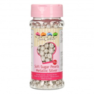 Perles tendres - Argent métallique - 55g - Funcakes