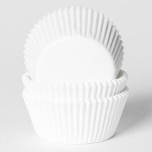Caissettes à cupcakes - Blanc - 50pc - HoM