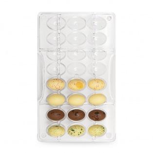 Chocolate mold - Small Eggs / 24pcs - Decora