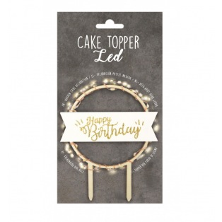 Cake Topper led - Happy Birthday - ScrapCooking