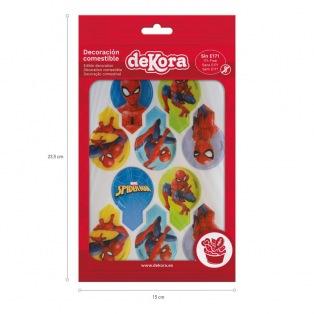 Toppers pour cupcakes en azyme Spiderman 20pcs - Dekora