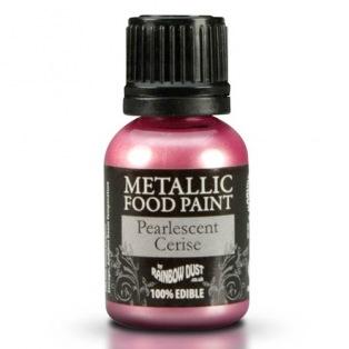 Peinture alimentaire métallisée - Cerise