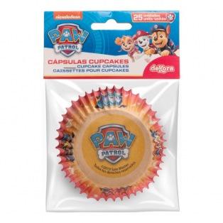 25 caissettes à cupcakes Paw Patrol - Dekora