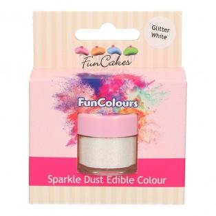 Poudre alimentaire Glitter White - Sparkle Dust - Funcakes