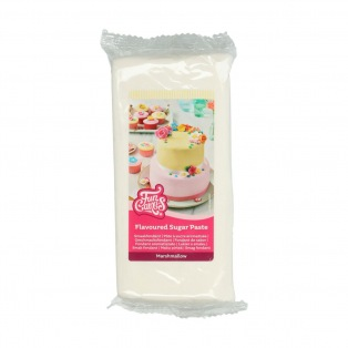 Pâte à sucre - Blanc (Goût Marshmallow) - 1kg - FunCakes