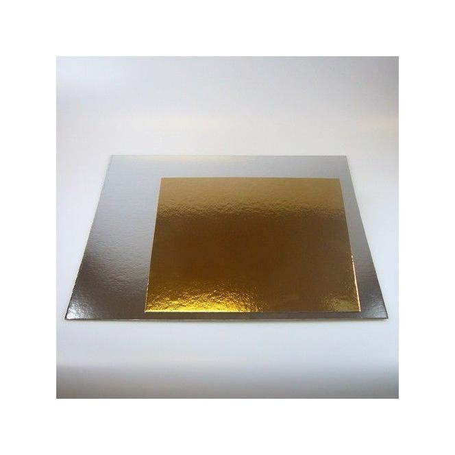FunCakes Cake Card Gold/Silver 20cm Pk/3