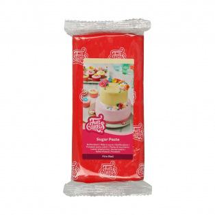 Pâte à sucre - Rouge (Fire Red) - 1kg - FunCakes